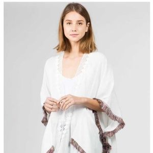 Sweaters - 🔥FASHION STYLISH SOLID WHITE KIMONO WITH TASSELS